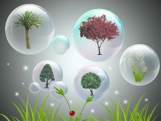 illustration digitalart nature bubble emotions