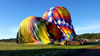 colorful balloon travel