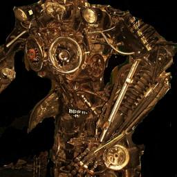 gold ufo sculptura edit art freetoedit
