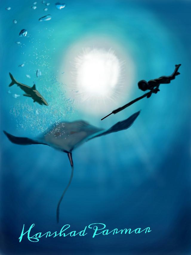 #wdpshowmethesea #hunter #shark #stingray #digital  Hope u all like it my friends, thanx in advance for ur likes, votes & repost.
