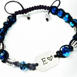 colorful photography cute bracelet blue