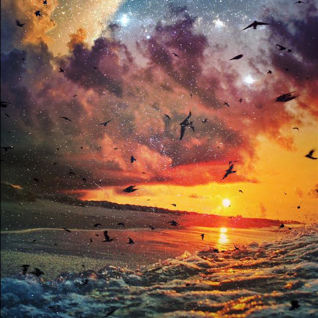 Outer space        Op: I.G ( littlecoal )  #beach #interesting #nature #edited #myart        #FreeToEdit