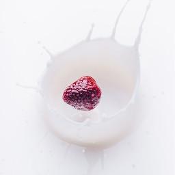 freetoedit fruit strawberry milk sweet