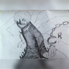 draw tokyoghoul disegnofattodame drawing kaneki
