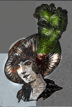woman vintage hat art beautifypicsart