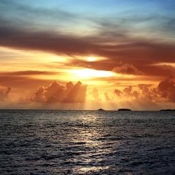 sea summer sunset