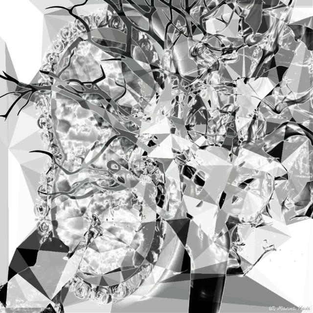 #remix #remixes #mirror #darkart #afterdark  #glamor #backroundimage #freetoedit@pa #mirrored  #mirrormania  #blackandwhite #cliparts #polygon #neon Many thank's  @bettwo !