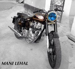 bullet royalenfield blue bike mybil