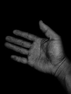 blackandwhite hand mine iphonephotography