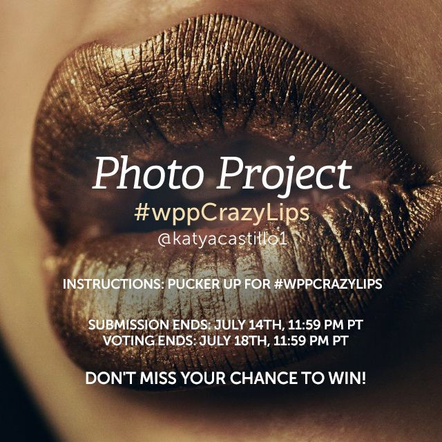 Smack your lips at the camera for our Weekly Photography Project, and get creative with lips! Play with perspective, use cool lipstick, or just get silly. Share your pics with #wppCrazyLips . (Banner image by @katyacastillo1 )