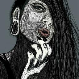 freetoedit portrait digitaldrawing inkedgirl ta