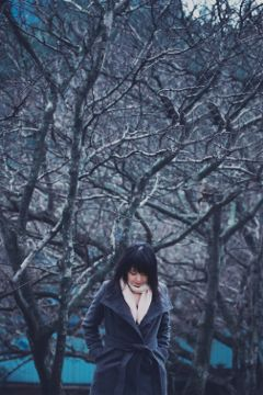 freetoedit portrait winter emotion photography