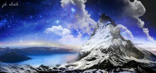 remixme edited night stars mountain freetoedit