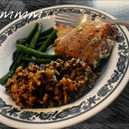 goodeats yummy delicious salmon greenbeans
