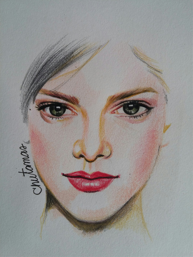 #drawing  #coloredpencils  #make up  #woman