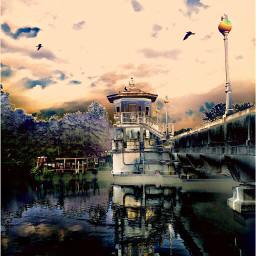 colorchangeup nettesdailyinspiration bridge river reflection