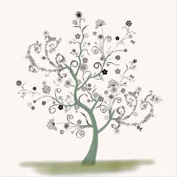 wdpfloralpaper painting tree flower freetoedit