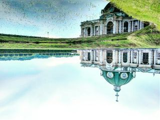 moscow architecture mirror travel lake