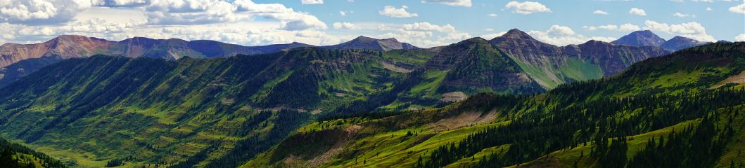 panorama mountains landscape summer photography