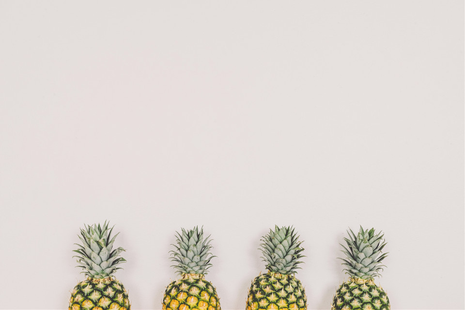 Editing pineapples is very trendy now. Let your awesome shine right through.  Unsplash (Public Domain)  #FreeToEdit #minimal #pineapple #pineapples #fresh #color #background
