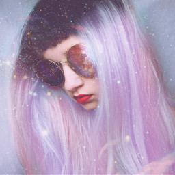 FreeToEdit pastelhair pastel galaxy people hair shades girl