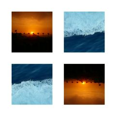 simple wapsummercollage sun sea sunset